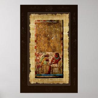 Poster antiguo del arte de Stela del egipcio