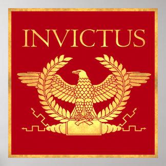 Poster antiguo del oro de Invictus