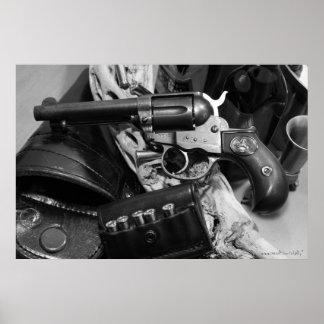 Poster antiguo fresco de la fotografía del arma