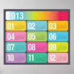 Poster anual de la pared del calendario 2013