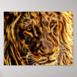 Poster apacible del león (11 x 8,5) por los