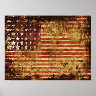 Poster apenado de la bandera