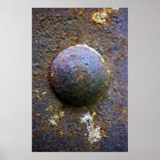Poster apenado industrial del remache de acero del