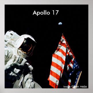 Poster/Apolo 17/aterrizaje pasado de Apolo en la l