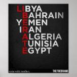 Poster árabe de la primavera