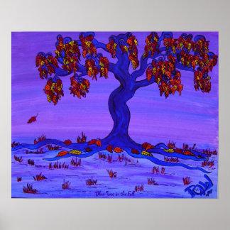 Poster - árbol azul en la caída