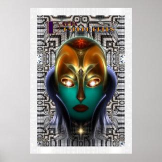 Poster archival de la pared de la tecnología de la