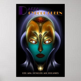 Poster archival de la reina del Cyborg de Daria