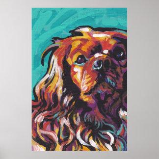 Poster arrogante de rubíes del arte pop del perro