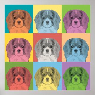 Poster arrogante del Estallido-Arte del perro de a
