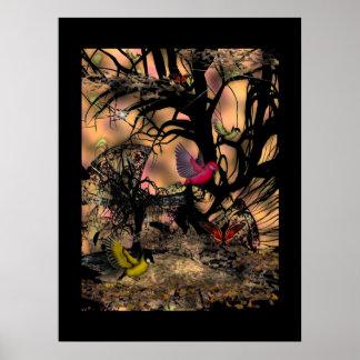 Poster Art Asian Birds Print