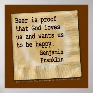 Poster, Art - Beer Is Proof Poster