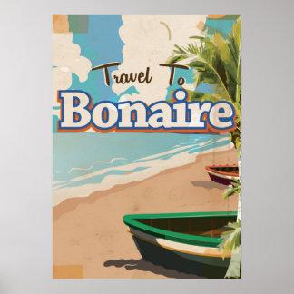 Poster Art. del viaje del vintage de Bonaire