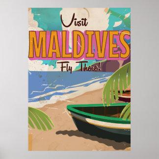 Poster Art. del viaje del vintage de la isla de