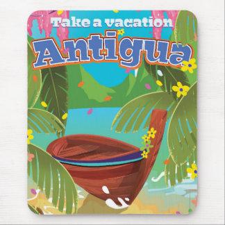 Poster Art. del viaje del vintage de la isla de Alfombrilla De Ratón