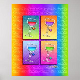 Poster, Art - Pop Art Wine Poster