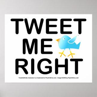 Poster, Art - Tweet Me Right