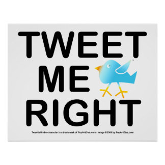 Poster, Art - Tweet Me Right Poster