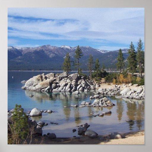 Poster/arte del lago Tahoe del puerto de la arena Póster
