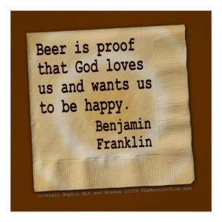 Poster, arte - la cerveza es prueba