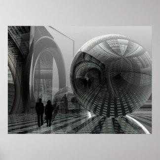 """Poster artístico de la ciencia ficción """"que camina"""