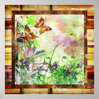 Poster artístico de las mariposas