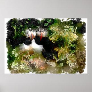 Poster artístico del frailecillo