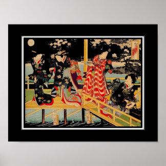 Poster Asian Vintage Art Utagawa Kunichika Japan 2