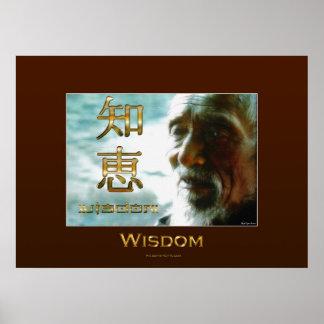 Poster asiático del arte de las enseñanzas de la S