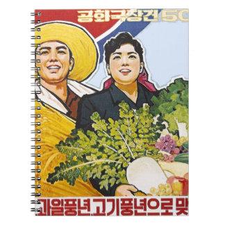 Poster asiático spiral notebook