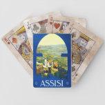 Poster Assisi Italia del vintage del viaje Cartas De Juego