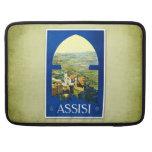 Poster Assisi Italia del vintage del viaje Funda Para Macbooks