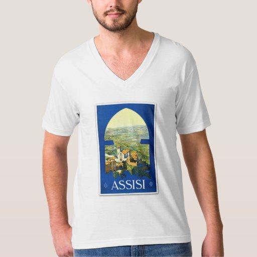 Poster Assisi Italia del vintage del viaje Playera