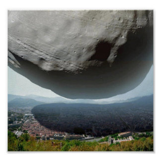poster Asteroid above city
