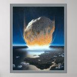 Poster asteroide de la colisión