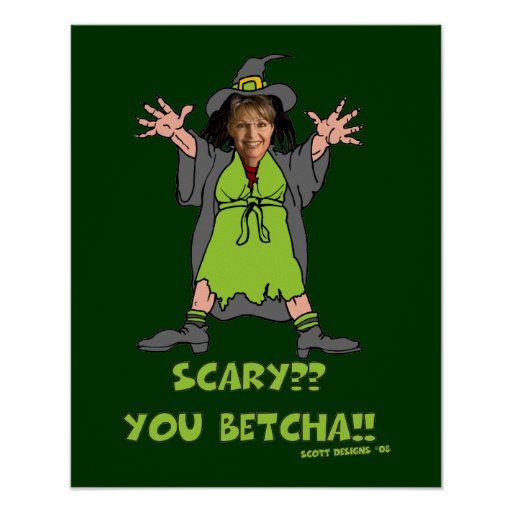 Poster asustadizo de Palin