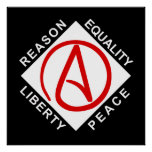 Poster ateo del logotipo