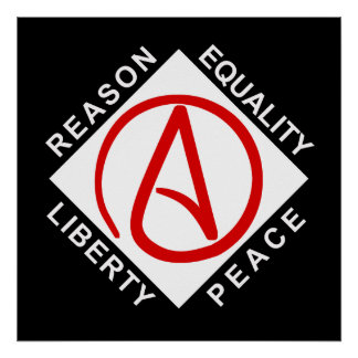 Poster ateo del logotipo póster