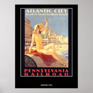 Poster Atlantic City del vintage