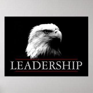 Poster audaz de Eagle de la dirección blanca negra