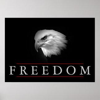 Poster audaz de Eagle de la libertad blanca negra