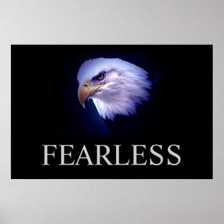 Poster audaz de motivación negro y azul de Eagle