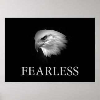 Poster audaz de motivación negro y blanco de Eagle