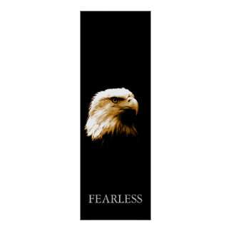 Poster audaz de motivación vertical de Eagle calvo