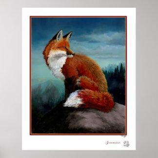 Poster aumentado Digital del Fox rojo