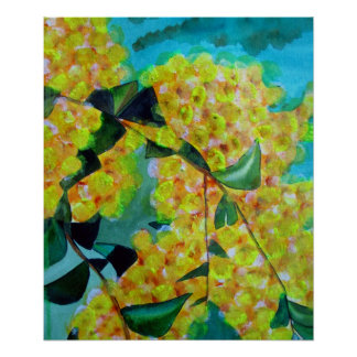 Poster australiano nativo del arte de la flor del