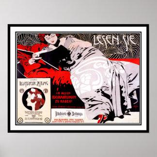 Poster austríaco de la secesión del vintage: Kolo