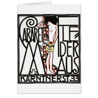 poster austríaco del cabaret de los años 30 tarjeta de felicitación