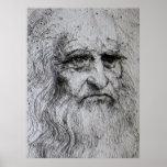Poster - autorretrato de Leonardo da Vinci Póster