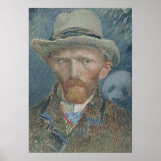 Poster: Autorretrato de Van Gogh con la panda Póster